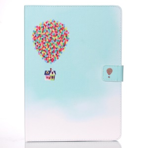 Patterned Wallet Smart Leather Stand Cover for iPad Air 2 - Flying House