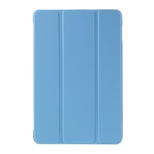 For iPad mini 4 Tri-fold Stand Smart Leather Flip Case Cover - Blue
