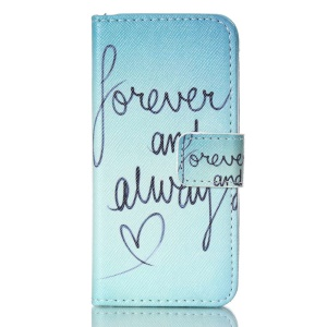 Horizontal Flip Wallet Leather Phone Cover for iPhone 5s 5 - Never and Always