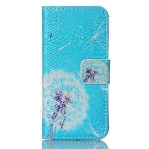 Dandelion Pattern Horizontal Flip Wallet Leather Protective Cover for iPhone 5s 5
