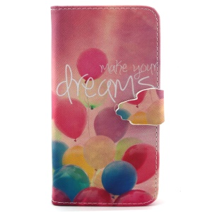 Colorful Balloons Wallet Stand Leather Phone Cover for iPhone 6 4.7 inch
