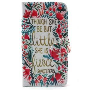 Quote and Flower for iPhone 6 4.7 inch Leather Wallet Stand Cover