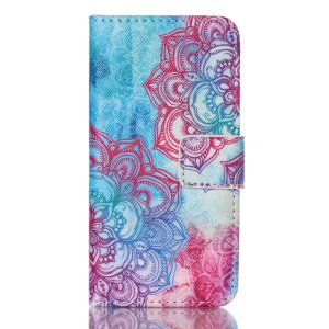 Magnetic Leather Stand Case for iPod Touch 5 - Henna Lotus
