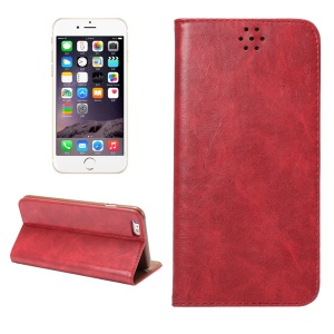 Magnetic Auto-absorbed Crazy Horse Leather Cover for iPhone 6s / 6 4.7 inch - Red