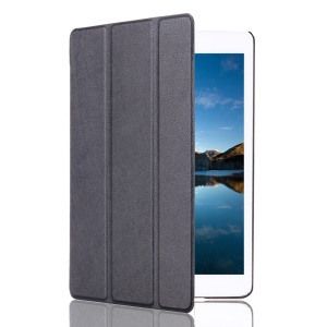Protective Leather Smart Case for iPad Mini 4 with Tri-fold Stand - Black