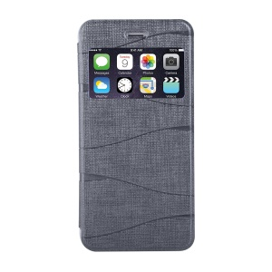 KINGBAR Elegant View Window Leather Case for iPhone 6s / 6 4.7 inch - Grey