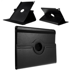 Full Rotary Stand Lychee Smart Leather Tablet Case for iPad Pro 12.9 inch - Black