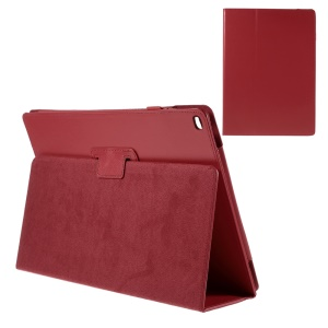 Litchi Texture Smart Leather Stand Shell for iPad Pro 12.9 inch - Red