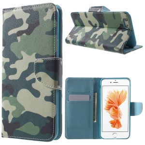 Patterned Wallet Leather Stand Cover for iPhone 6s / 6 4.7 inch - Camouflage