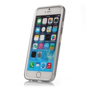 Slide-on Aluminium Alloy Metal Bumper Case for iPhone 6 - Silver