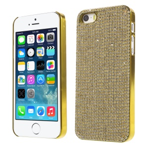 Bling Diamond Electroplated PC Protective Case for iPhone SE 5s 5