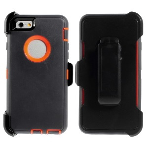 Shockproof PC + TPU Hybrid Cover w/ Swivel Belt Clip Stand for iPhone 6 - Dark Grey
