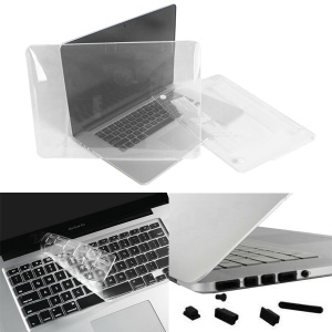 "White ENKAY for MacBook Pro 15.4"" A1398 w/ Retina Display Plastic Crystal Cover + Keyboard Film + Anti-dust Plugs"