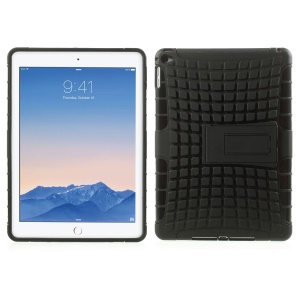 2-dentro-1 Placa de plástico e TPU para iPad Air 2 - negro