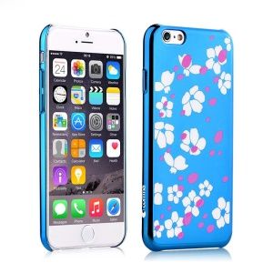 COMMA Bloom Series Plated Plastic Case for iPhone 6s / 6 4.7 inch - Blue