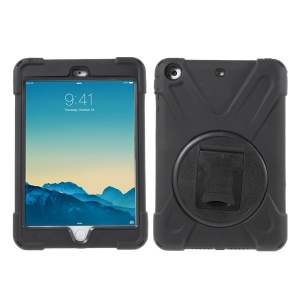 Kickstand Silicone PC Heavy-duty Case for iPad Mini 3 / Mini 2 / Mini - Black