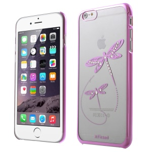 X-FITTED Swarovski Rhinestones Dragonfly Plated Hard Cover for iPhone 6 / 6s - Pink