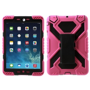 Spiderman Silicone and PC Heavy Duty Shell for iPad Mini 1 / 2 / 3 with Touchable Screen Protector - Rose