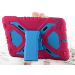 PEPKOO Spider Series for iPad Air Extreme Heavy Duty PC + Silicone Hybrid Cover - Rose / Blue
