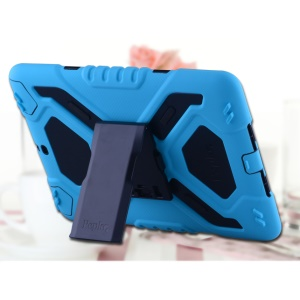 PEPKOO Spider Series for iPad Air Extreme Heavy Duty PC + Silicone Hybrid Case Shell - Blue / Black