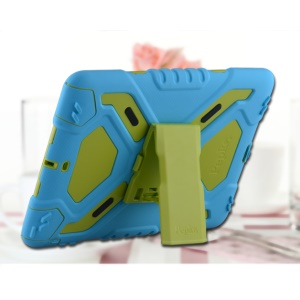 PEPKOO Spider Series for iPad Air Extreme Heavy Duty PC + Silicone Hybrid Cover - Blue / Green