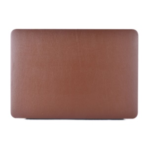 Leather Coated Hard Cover for MacBook 12-inch with Retina Display (2015) - Brown