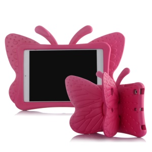 3D Butterfly Kids Shockproof EVA Cover for iPad Mini 3/2/1 - Rose