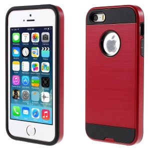 2 in 1 PC and TPU Combo Case for iPhone SE 5s 5 - Red