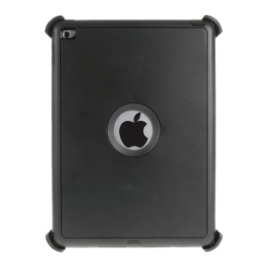 Heavy Duty PC TPU Hybrid Case for iPad Air 2 with Touchable Screen Protector - Black
