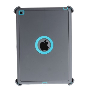 Heavy Duty PC TPU Hybrid Case for iPad Air 2 with Touchable Screen Protector - Grey / Blue