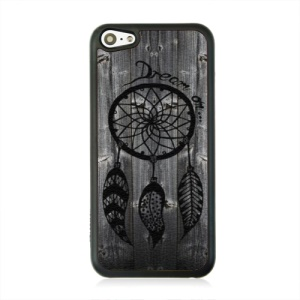 Leather Coated PC Cover for iPhone 5c - Dream Catcher Pattern