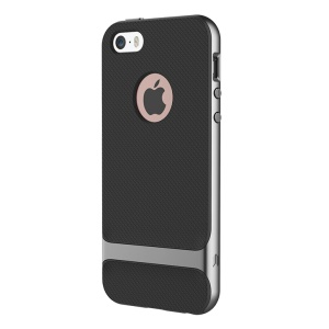 ROCK Royce Series PC and TPU Hybrid Case for iPhone SE 5s 5 - Grey