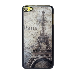 Protective Plastic Case for iPod Touch 6 - Retro Eiffel Tower