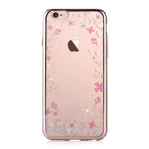 DEVIA Crystal Plating Hard Back Case for iPhone 6 6s 4.7-inch - Blooming Flowers