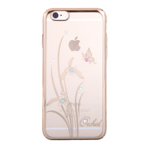 KINGXBAR Swarovski Plating Hard Shell for iPhone 6s Plus / 6 Plus 5.5 inch - Pretty Orchid