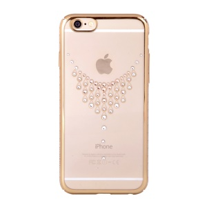 KINGXBAR Swarovski Plated Hard Phone Case for iPhone 6s Plus / 6 Plus - Shiny Necklace