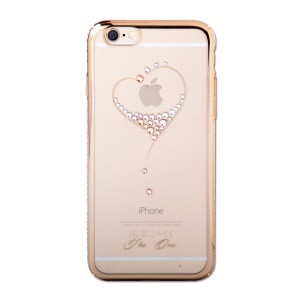 KINGXBAR Swarovski Plated Hard Cover Case for iPhone 6s Plus / 6 Plus - Loving Heart