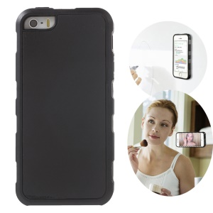 MYFONLO for iPhone SE 5s 5 Magic Sticks Anti-Gravity Case Selfie Cover Hands-free - Black