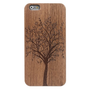 Wood Grain Plastic Hard Shell Case for iPhone 6s / 6 - Tree Pattern