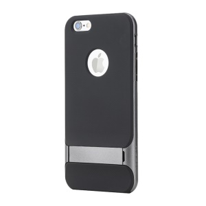 ROCK Royce Series for iPhone 6s 6 PC + TPU Hybrid Case with Kickstand - Grey