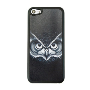 Patterned Plastic Phone Case for iPhone 5c - Owl