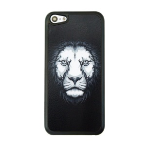 Patterned PC Phone Case Cover for iPhone 5c - Lion