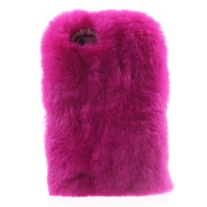 Winter Warmer Rabbit Fur Lady Cover for iPhone 6s / 6 - Rose