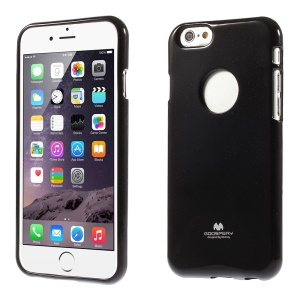 Mercury GOOSPERY Glitter Powder Jelly TPU Case for iPhone 6 Plus / 6s Plus - Black