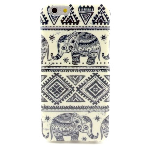 Elephant & Geometric Pattern TPU Gel Case for iPhone 6