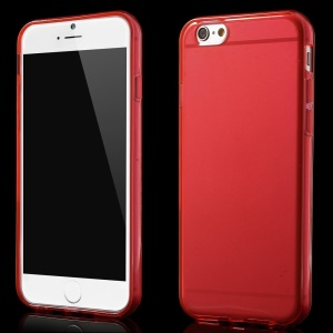 Glossy Surface TPU Skin Case for iPhone 6 Plus / 6s Plus 5.5 inch - Red