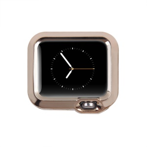 Electroplated TPU Protective Cover for Apple Watch 42mm - Champagne