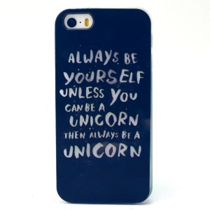 Quotes Pattern TPU Case for iPhone 5s 5