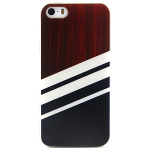 Wood Grain Pattern TPU Protective Case for iPhone 5 5s