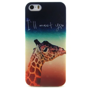 Giraffe and Starry Sky TPU Gel Case for iPhone 5 5s